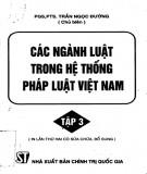 Ebook Các ngành luật trong hệ thống pháp luật Việt Nam (Tập 3): Phần 1