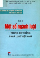 Tập 2: Một số ngành luật trong hệ thống pháp luật Việt Nam - Nghiên cứu môn học Nhà nước và pháp luật: Phần 1
