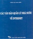 các văn bản quản lý nhà nước về internet: phần 1