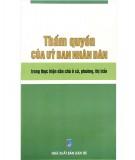 Ebook Thẩm quyền của Ủy ban nhân dân trong thực hiện dân chủ ở xã, phường, thị trấn: Phần 1