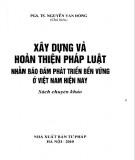 Phát triển bền vững ở Việt Nam hiện nay - Xây dựng và hoàn thiện pháp luật: Phần 2