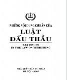Ebook Những nội dung cơ bản của Luật đấu thầu: Phần 1