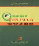 Ebook Bình luận về quyền tác giả theo pháp luật Việt Nam: Phần 1