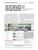 Giải pháp cổng thông tin thư viện điện tử dành cho các trường phổ thông trung học - Hoàng Công Quang Huy