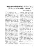Phát triển thị trường bất động sản nhằm đồng bộ hóa các loại thị trường ở Việt Nam - TS. Trần Thị Minh Châu