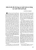 Một số vấn đề về năng lực cạnh tranh và năng lực cạnh tranh quốc gia - TS. Nguyễn Văn Thanh