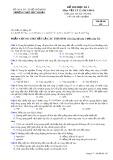 Đề thi học kì 2 có đáp án môn: Vật lý 12 - Mã đề thi 195 (Năm học 2013-2014)