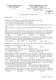 Đề thi thử đại học 2015, lần 1 môn: Vật lý, khối A, A1 - Trường THPT Phú Nhuận (Mã đề thi 132)