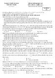 Đề thi thử đại học 2013 có đáp án môn: Vật lý, khối A, A1 - Trường THPT Phú Nhuận (Mã đề thi 132)