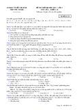 Đề thi thử đại học 2015, lần 1 môn: Hóa, khối A, B - Trường THPT Phú Nhuận (Mã đề thi 134)