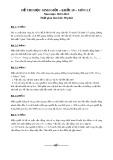 Đề thi học sinh giỏi có đáp án môn: Lý – Khối 10 (Năm học 2012-2013)