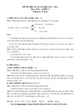 Đề thi học kỳ 2 có đáp án môn: Hóa - Khối 11 (Năm học 2013-2014)