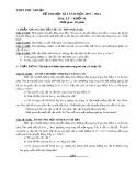 Đề thi học kì 1 có đáp án môn: Lý 10 - Trường THPT Phú Nhuận (Năm học 2013-2014)