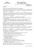 Đề thi thử đại học lần 3 có đáp án môn: Sinh học, khối B - Trường THPT Phú Nhuận (Mã đề thi 136)