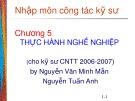 Bài giảng Nhập môn công tác kỹ sư Công nghệ thông tin: Chương 5 - Nguyễn Văn Minh Mẫn, Dương Tuấn Anh
