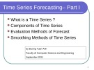 Time Series Forecasting – Part I