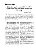 Chính sách quy hoạch phát triển khu công nghiệp ở Việt Nam: Nhìn từ góc độ phát triển bền vững - Nguyễn Thị Thơm