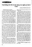 Hoạt động kinh tế và xây dựng chủ nghĩa xã hội ở Cu Ba