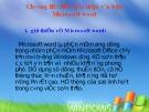 Bài giảng Tin học đại cương: Chương 3 - Hệ soạn thảo văn bản Microsoft Word