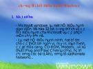 Bài giảng Tin học đại cương: Chương 2 - Tìm hiểu hệ điều hành Windows