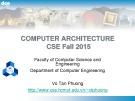 Bài giảng Computer Architecture: Chương 4.1 - Vo Tan Phuong