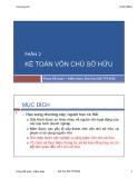 Bài giảng Kế toán tài chính 1: Chương 6 (phần 2) - TS. Vũ Hữu Đức