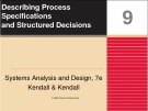 Systems Analysis and Design: Chapter 9 - Describing Process Specifications and Structured Decisions