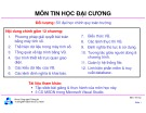 Bài giảng môn Tin học đại cương - ĐH Bách khoa TP.HCM
