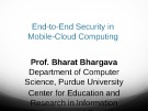 End-to-End Security in Mobile-Cloud Computing