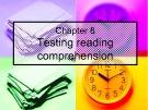 Bài giảng môn Phương pháp kiểm tra và đánh giá học tập: Chapter 8 - Phan Thị Thu Nga