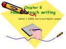 Bài giảng môn Phương pháp giảng dạy tiếng Anh: Chapter 8 - Phan Thị Thu Nga