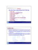 Bài giảng Lập trình hướng đối tượng: Chương 2 - ĐH Bách Khoa TP.HCM
