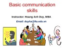 Lectures Basic communication skills - Hoàng Anh Duy