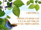 Bài giảng Vi sinh ứng dụng: Chương 2 - GV. Đoàn Thị Ngọc Thanh
