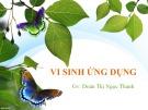 Bài giảng Vi sinh ứng dụng: Chương 1 - GV. Đoàn Thị Ngọc Thanh