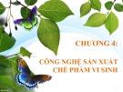Bài giảng Vi sinh ứng dụng: Chương 4 - GV. Đoàn Thị Ngọc Thanh