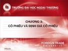 Bài giảng Đầu tư chứng khoán: Chương 3 - Nguyễn Thị Thu Huyền