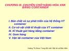 Bài giảng Chương 3: Chuyên chở hàng hóa xuất nhập khẩu bằng container - Hoàng Thị Đoan Trang