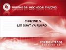 Bài giảng Đầu tư chứng khoán: Chương 5 - Nguyễn Thị Thu Huyền