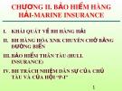 Bài giảng Bảo hiểm vận tải - Chương 2: Bảo hiểm hàng hải - Marine insurance