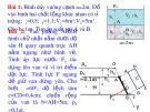 Bài giảng Cơ học chất lưu: Bài tập