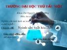 Bài thuyết trình: Nghiên cứu tình hình an toàn và vệ sinh lao động trong một số ngành nghề - Ngành sản xuất hóa chất