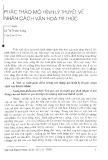 Phác thảo mô hình lý thuyết về nhân cách văn hóa trí thức - Lê Thị Thanh Hương