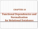 Lecture Database - Chapter 10: Functional dependencies and normalization for relational databases