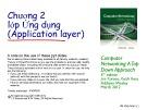 Bài giảng Computer Networking: A top down approach - Chương 2: Lớp ứng dụng