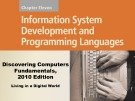 Lecture Discovering computers fundamentals - Chapter 11: Information system development and programming languages