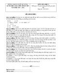 Đề thi học sinh giỏi cấp huyện Bù Đăng môn: Hóa học 9 (Năm học 2011-2012)