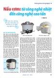 Nấu cơm: Từ công nghệ nhiệt đến công nghệ cao tần