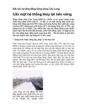 Kết cấu hạ tầng đồng bằng sông Cửu Long: Cần một hệ thống thủy lợi bền vững