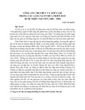 Công tác trị thủy và thủy lợi trong các làng xã ở Thừa Thiên Huế dưới Triều Nguyễn (1802-1945) - Trần Văn Quyến
